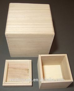 China Cheap Unfinished Wood Boxes with Llids