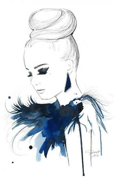 Original Watercolor, China Marker and Pen Fashion Illustration, Jessica Durrant - Bird of Paradise. via Etsy. Art And Illustration, Arte Fashion, Fashion Design, Pen And Watercolor, Watercolor Fashion, Inspiration Art, Fashion Sketches, Fashion Illustrations, Lifestyle Illustrations