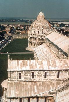 Campo dei Miracoli dalla Torre Pendente, Pisa