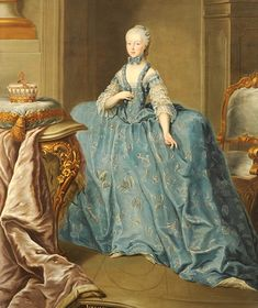 History of fashion in art & photo (1760s Martin van Meytens - Portrait of Archduchess...)