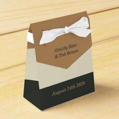 Simplified Bear Pride Favor Box for Gay Weddings