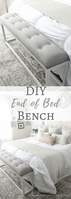diy upholstered bench at the foot of the bed nice designs