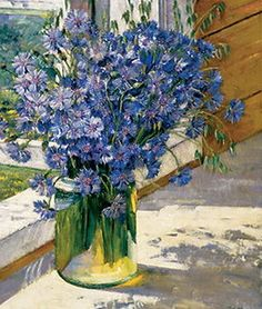 Cornflowers in a ray of sunshine - Konstantin Yuon