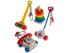Wow I just found out you can buy.Fisher Price Classic Toy Keychains: Fully functional keychain miniatures of classic childhood toys! Jouets Fisher Price, Fisher Price Toys, Vintage Fisher Price, Childhood Toys, Childhood Memories, Childhood Images, Mini Things, Classic Toys, Old Toys