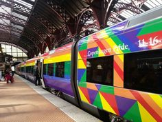 11.th - 16.th of August 2015. In Denmark we have decorated out trains in order to celebrate this years Copenhagen Pride  #copenhagenpride #pride #Pride #LGBT #LGBTQ