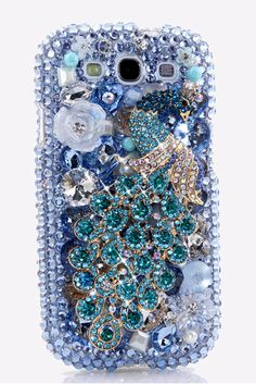 Aqua Peacock Case cover Design - Cute cool nice Samsung Galaxy s3 phone cases bling for girls awesome luxury! http://luxaddiction.com/collections/3d-designs/products/aqua-peacock-design-style-481