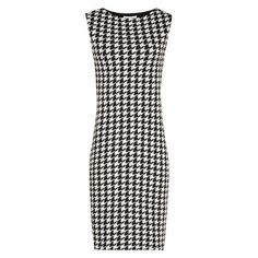 db9db84caf8 Lane BLACK WHITE HOUNDSTOOTH DRESS ❤ liked on Polyvore featuring dresses  Maxi Dress With Sleeves
