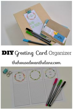 Learn how to make a DIY Greeting Card Organizer and why handwriting letters is so important!   The House Down the Lane for Sweet Tea and Saving Grace
