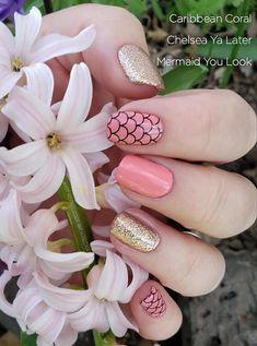 Nail Color Combos, Nail Polish Colors, Pretty Nail Colors, Pretty Nails, Fancy Nails, Cute Nails, Nails Only, Mermaid Nails, Color Street Nails