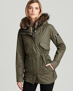 Cabin Anorak with Fur Vest Lining - Lyst