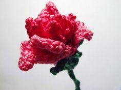 CROCHET PATTERNS (Crochet Flower Pattern #10 Pink Rose) -Crochet & Knit Design Heaven