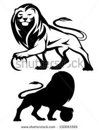 Illustration of lion holding a ball - vector illustration - black and white outline and silhouette vector art, clipart and stock vectors. Collaborative Mural, Lions Photos, Portrait, Lion Images, Lion Design, Cameo, Silhouette Vector, Free Vector Art, Animal Drawings