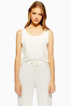 a6e4b5dd257eda Cream Brushed Ribbed Pyjama Cami Top - Gifts Under  50 - Clothing