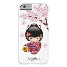 Sakura Kokeshi Doll Personalized iPhone 6 Case #cute #kawaii #kokeshi #japan #sakura