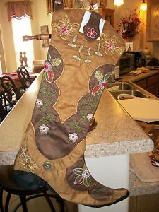 8389ad9814e 52 Best cowboy boot christmas stockings images in 2016 | Christmas ...