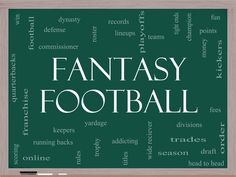 How to Win your Fantasy Football League Fantasy Football League, Business Inspiration, Good To Know, Nfl, Sunday, College, Wellness, Board, Sports