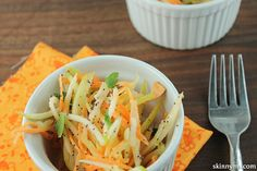 Sweet Potato and Apple Slaw with Poppyseed Dressing. It's delicious!!  #cleaneatingcoleslaw #healthycoleslaw