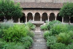 Cloister Museum courtyard in New York by Kim Schneider