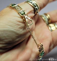 adding a safety chain to a braclet