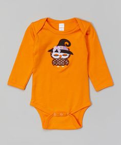 Loving this Orange Witch Owl Bodysuit - Infant on #zulily! #zulilyfinds