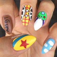 In seek out some nail designs and some ideas for your nails? Here is our set of must-try coffin acrylic nails for stylish women. Disney Acrylic Nails, Cute Acrylic Nails, Fun Nails, Disney Nails Art, Disney Manicure, Disney Nail Designs, Nail Art Designs, Nails Design, Toy Story Nails