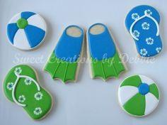 swim decorated cookies | Decorated Cookie Inspiration