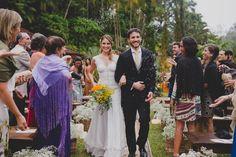 Casamento boho: chuva de arroz - Foto Thrall Photography