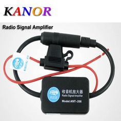 Top Sale $6.99, Buy Car Aerial Antenna 12V Car Automobile Radio Signal Amplifier ANT-208 Auto FM/AM Antenna Booster Windshield Mount Antenna Aerials