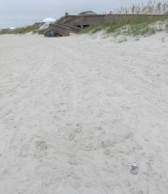 Dr. Pepper can (see bottom right) missed the trash can at the boardwalk by 50 feet! 8.5.14 ♥︎ Mommy Moo Moo #pickitup