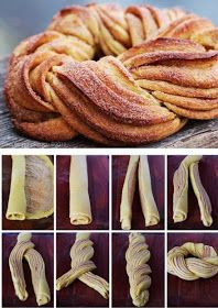 Braided Cinnamon Wreath.