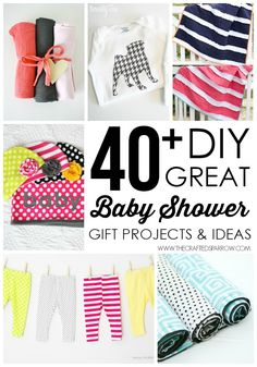 40+ DIY Baby Shower Gift Ideas - thecraftedsparrow.com