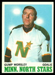 Gump Worsley, the last goalie to play without a mask. Hockey Goalie, Hockey Teams, Hockey Players, Ice Hockey, Minnesota North Stars, Minnesota Wild, Hockey Cards, Baseball Cards, Hockey Rules