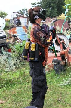 Love this sport! Paintball in a junk yard! GOPB [ UpUrGame.com ] #paintball #gear #game