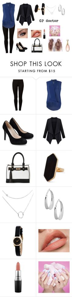 """""""NHS"""" by sarah4ever123 ❤ liked on Polyvore featuring Dorothy Perkins, FRACOMINA, IMoshion, Jaeger, Robert Lee Morris, Marc by Marc Jacobs, MAC Cosmetics and Christian Dior"""