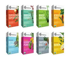 """healthy food packaging"" - These examples of healthy food packaging from Essential Living Foods show off an Organic Premium Superfood range of products. The line includes ite. Food Box Packaging, Organic Packaging, Food Packaging Design, Branding Design, Coffee Packaging, Bottle Packaging, Label Design, Design Design, Design Food"