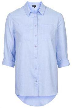 PETITE Neat Fit Chambray Shirt