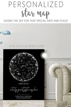 A Special Occasion Custom Star Map Print Night Sky Constellation Chart Personalized Poster Gift Perfect for Birthday Anniversary Wedding Special Date Graduation Home Office Decor DOCAZON
