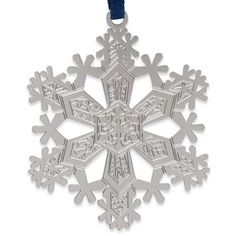 1971 Snowflake Christmas Ornament, designed by Josef Albers - The Met Store - Measuring 2 1/2'' diam. Solid brass electroplated with non-tarnishing silver finish.