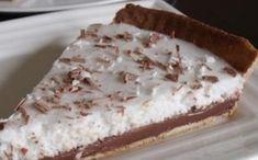 Recipe: Chocolate tart and coconut mousse. Cheesecake Mousse Recipe, Chocolate Mousse Cheesecake, Coconut Cheesecake, Cheesecake Recipes, Mousse Coco, Coconut Mousse, Creme Fraiche, No Bake Cake, Vanilla Cake