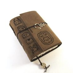 Maya - Leder, Notizbuch, Journal