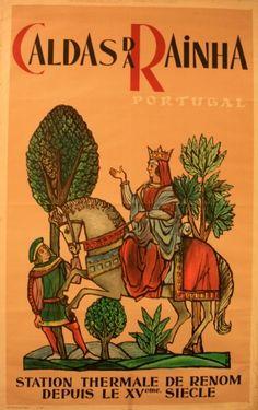 Caldas da Rainha Portugal, 1957 - original vintage poster by Tom listed on AntikBar.co.uk