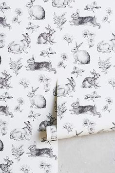 Anthropologie Toile Lapin Wallpaper