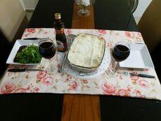 Mesa posta básica almoço Basic table set lunch