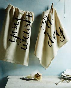 You Wash, I'll Dry #Dishtowels #Anthropologie