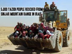 5,000 #Yazidi people rescued from #Sinjar mountain range in #Iraq