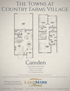 Camden Floor Plan at Country Farms Village The Towns