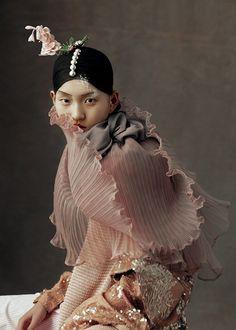 "lisa401971: "" Wangy Xinyu in 'The Peking Opera' by Kiki Xue for Harper's Bazaar China, May 2016 """