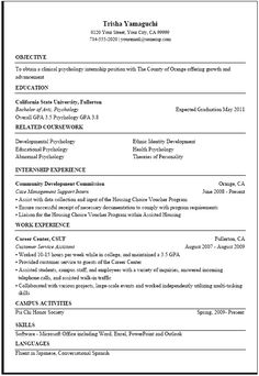 There Is An Example Of Resume Critique If You Want It Then
