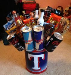 Liquor/ Candy bouquet! This would be a great idea for the groomsmen @Stephanie Close Castelo @Sylvia Barnowski Bernal Ill need yalls help!