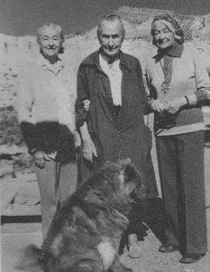 """georgia o'keeffe and her sisters  """"It seems to be my mission in life to wait on a dog"""""""